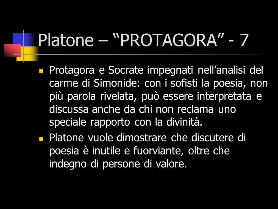 Platone – PROTAGORA - 7