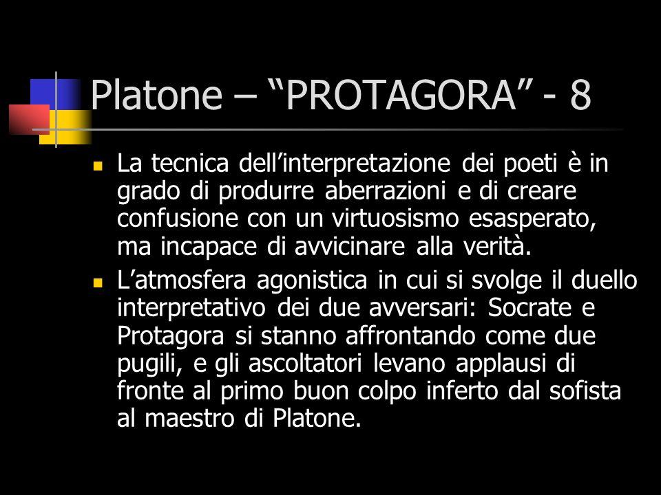 Platone – PROTAGORA - 8