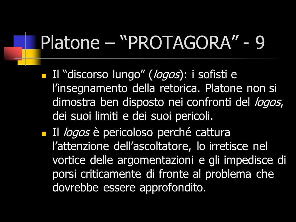 Platone – PROTAGORA - 9