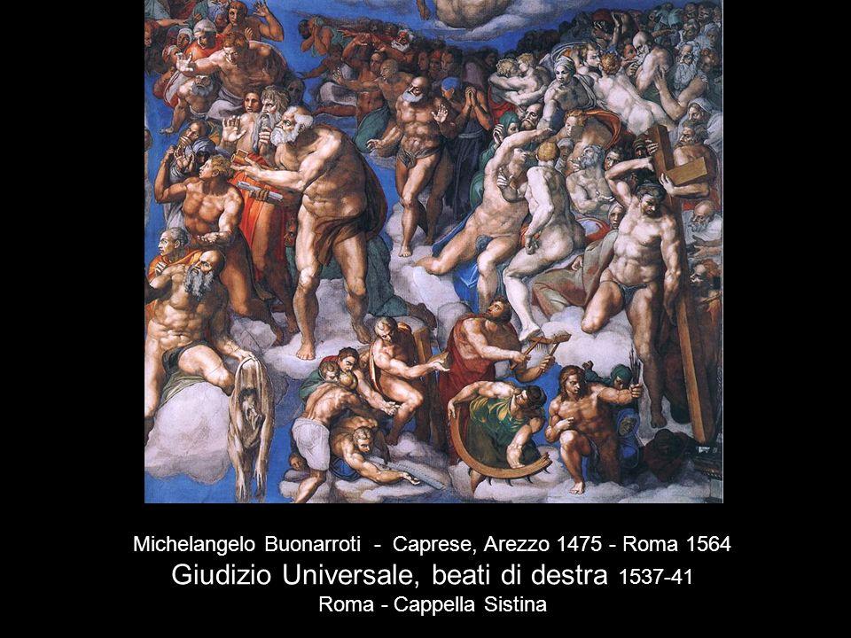 Giudizio Universale, beati di destra 1537-41