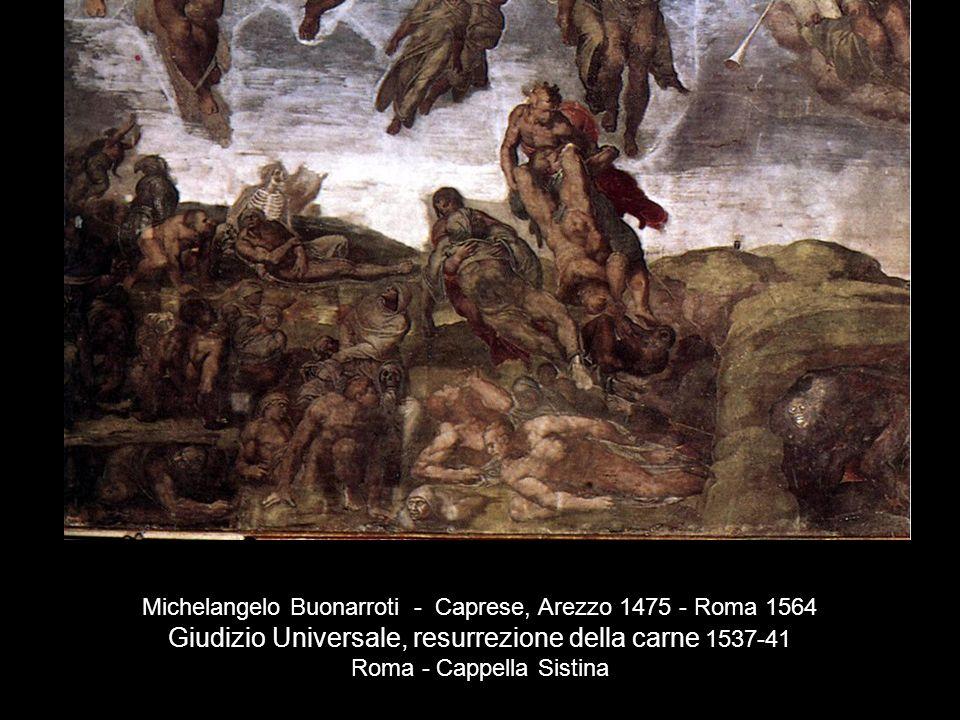 Giudizio Universale, resurrezione della carne 1537-41