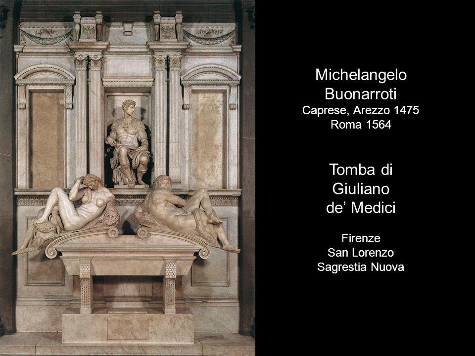 Michelangelo Buonarroti Tomba di Giuliano de' Medici