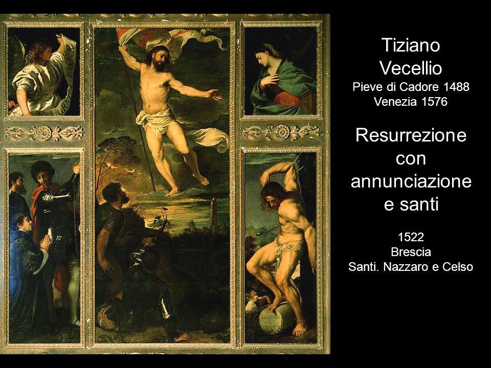 Resurrezione con annunciazione e santi