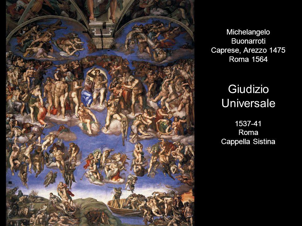 Giudizio Universale Michelangelo Buonarroti Caprese, Arezzo 1475