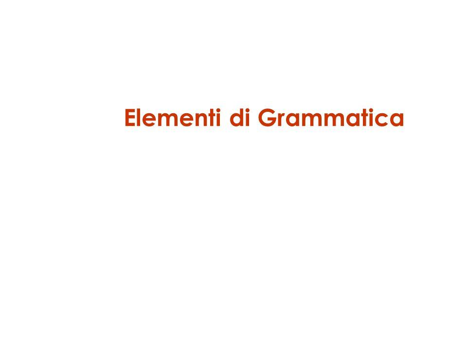 Elementi di Grammatica