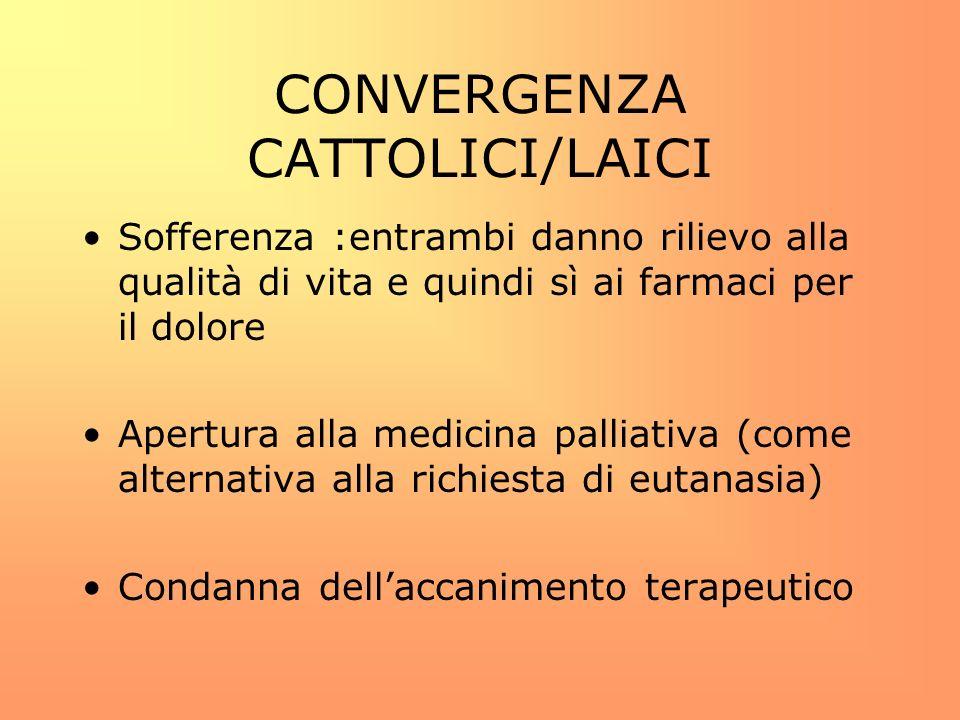 CONVERGENZA CATTOLICI/LAICI
