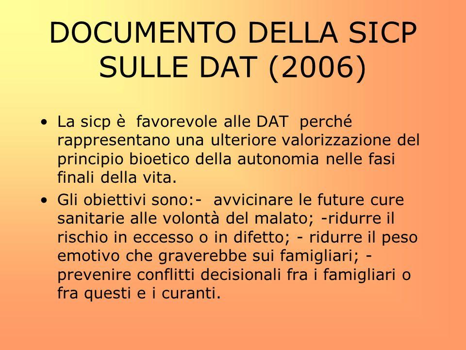 DOCUMENTO DELLA SICP SULLE DAT (2006)