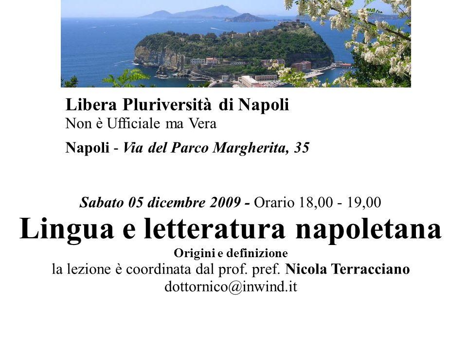 Lingua e letteratura napoletana