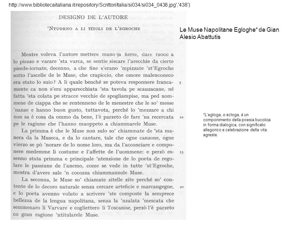 Le Muse Napolitane Egloghe* de Gian Alesio Abattutis