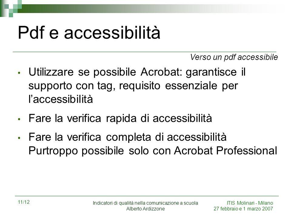 Pdf e accessibilità Verso un pdf accessibile.