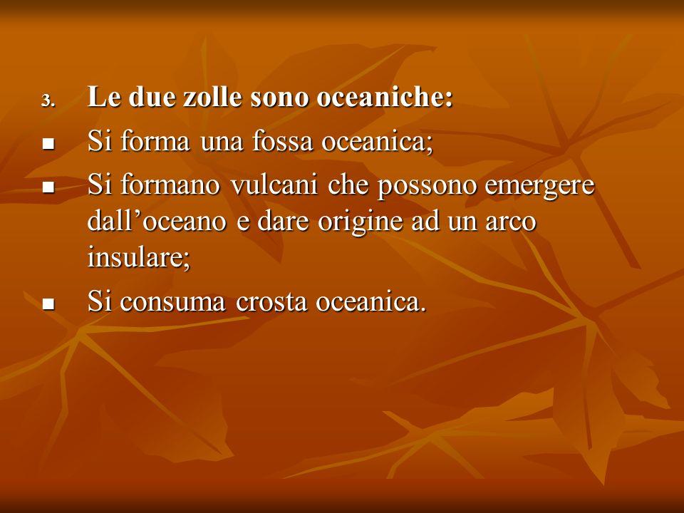 Le due zolle sono oceaniche: