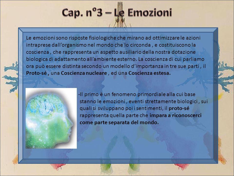 Cap. n°3 – Le Emozioni