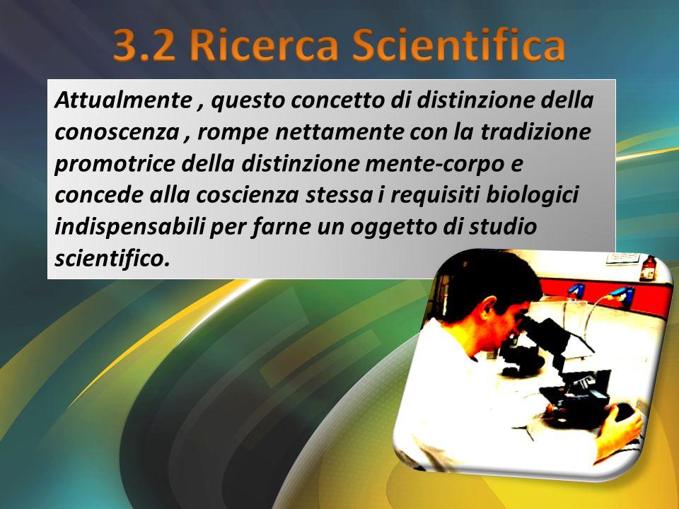 3.2 Ricerca Scientifica