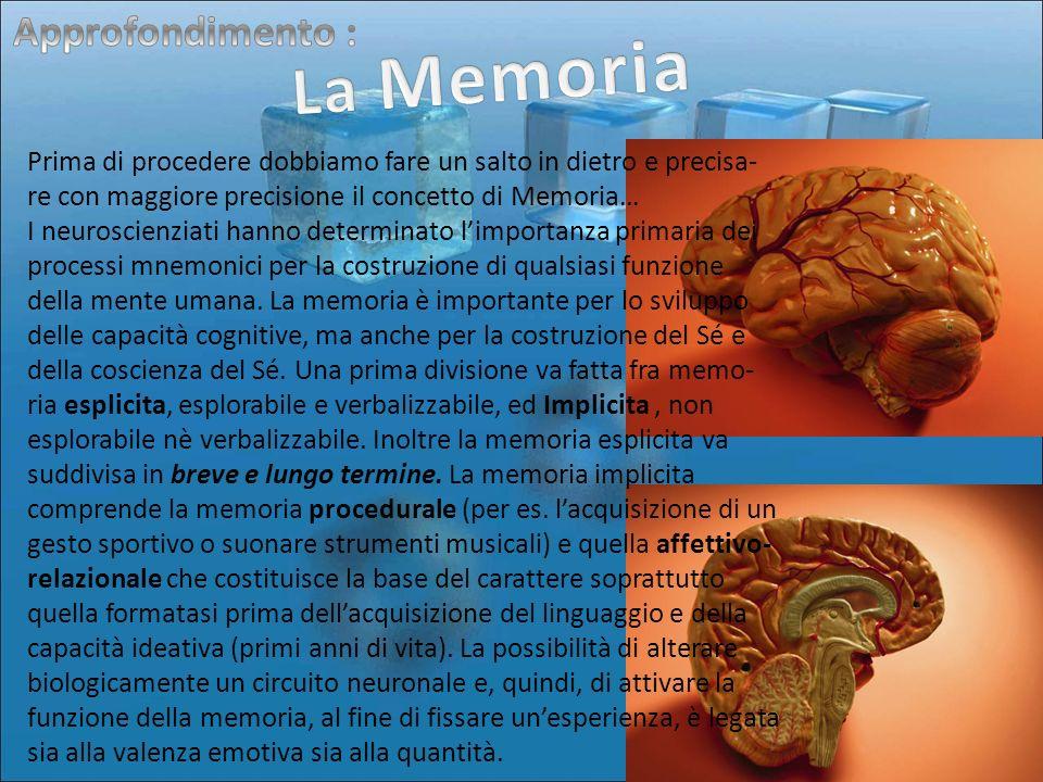 La Memoria Approfondimento :