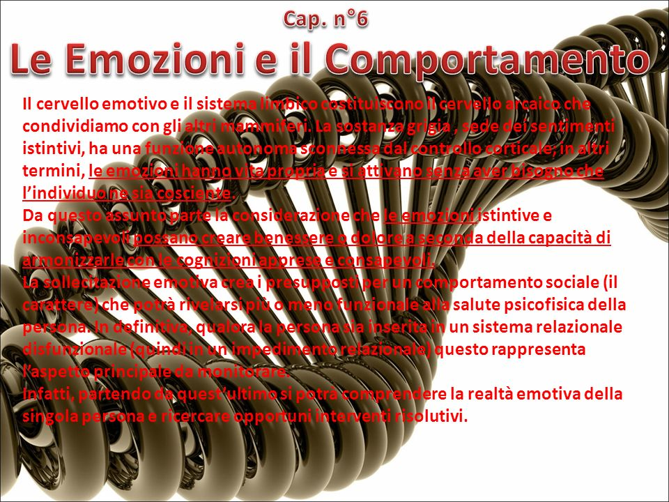 Le Emozioni e il Comportamento