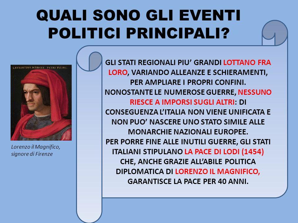 QUALI SONO GLI EVENTI POLITICI PRINCIPALI