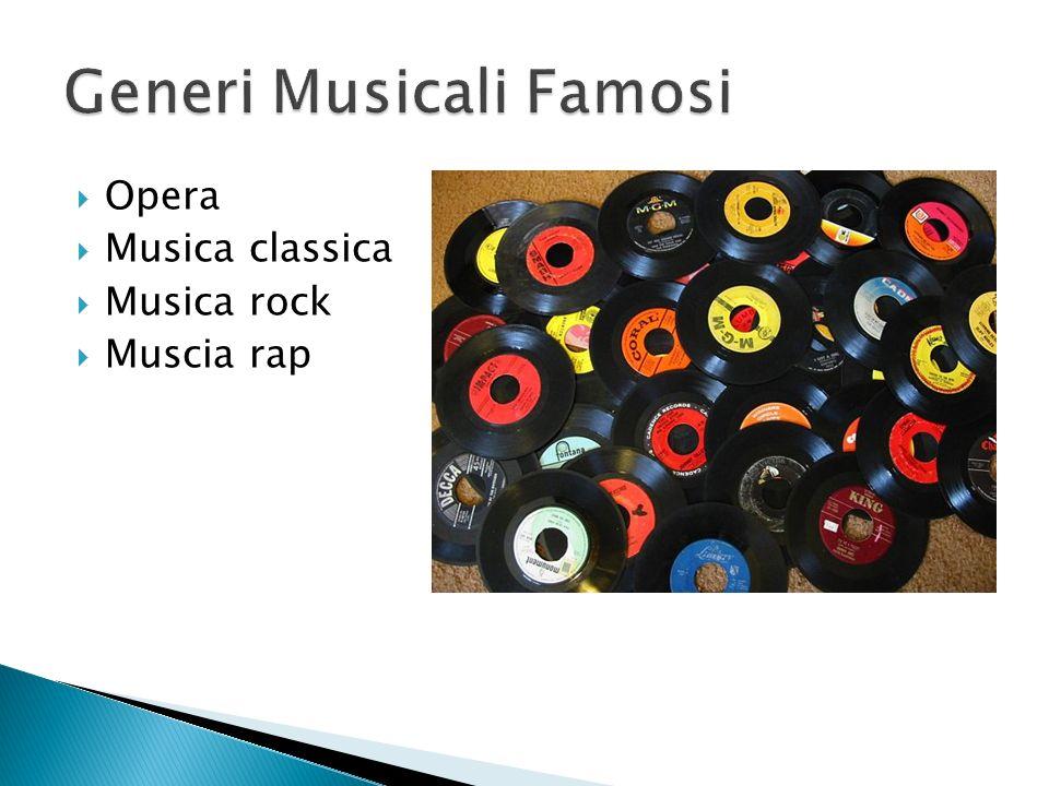 Generi Musicali Famosi
