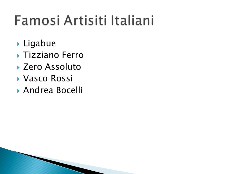 Famosi Artisiti Italiani