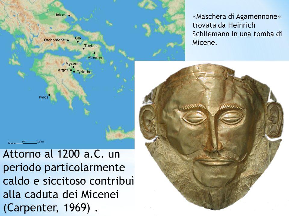 «Maschera di Agamennone» trovata da Heinrich Schliemann in una tomba di Micene.