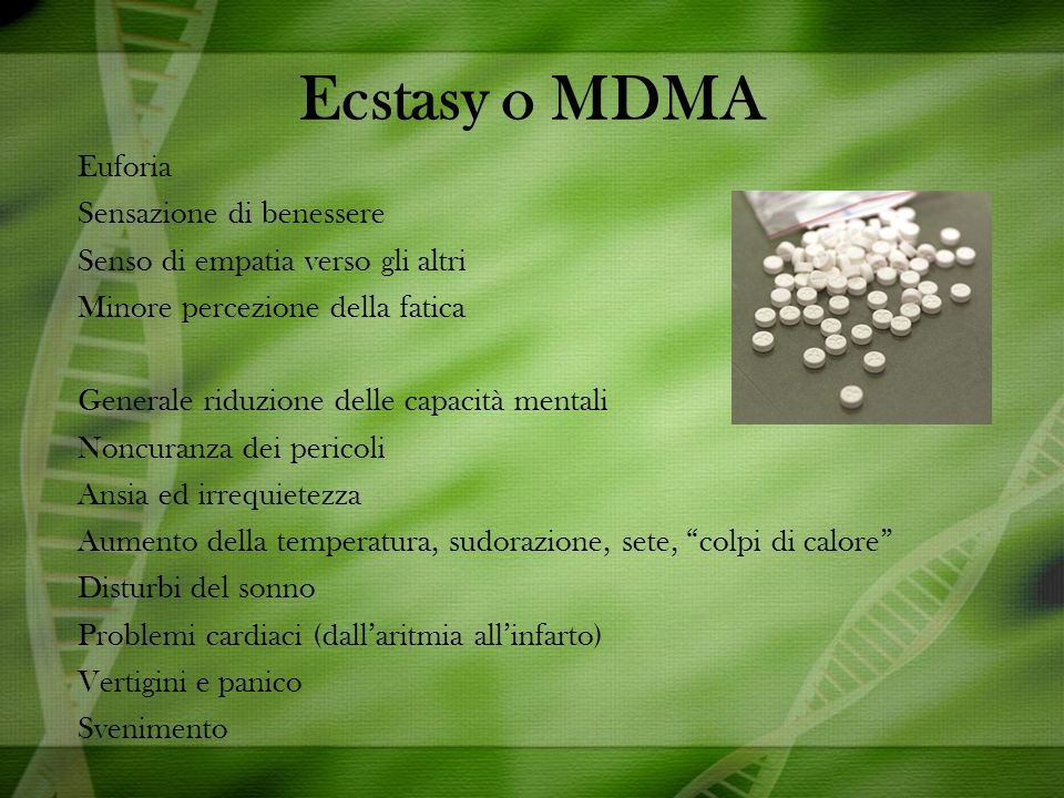 Ecstasy o MDMA