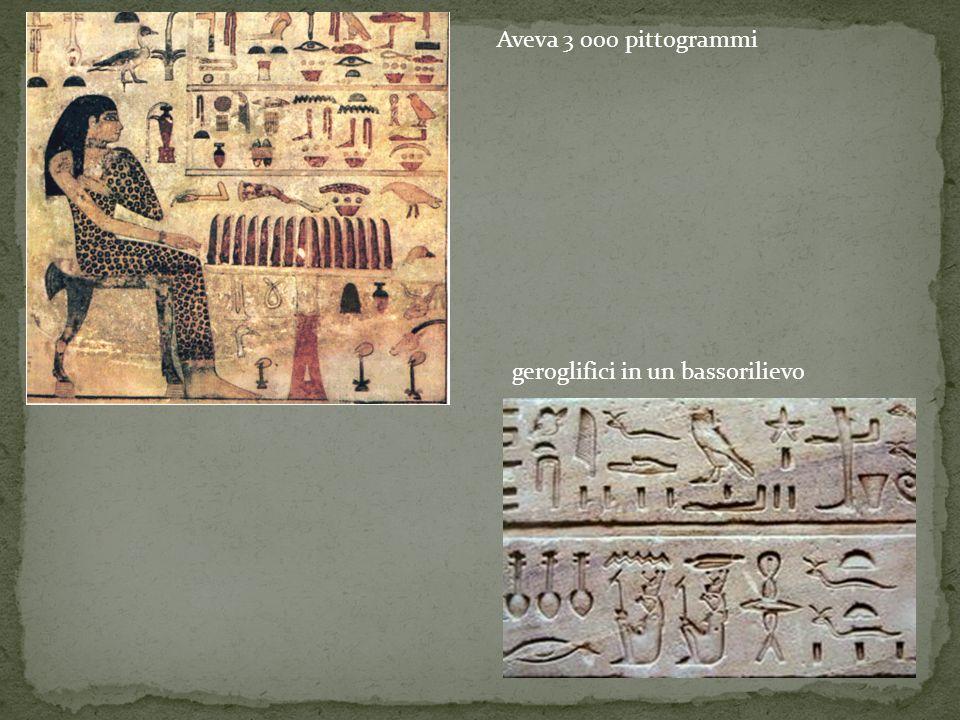 Aveva 3 000 pittogrammi geroglifici in un bassorilievo
