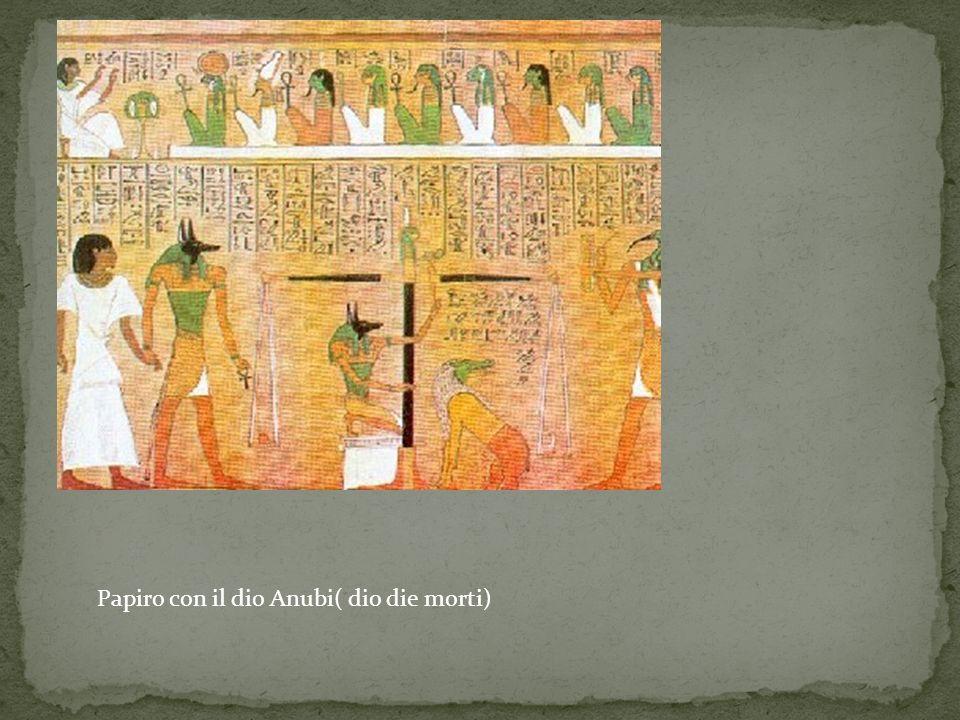 Papiro con il dio Anubi( dio die morti)