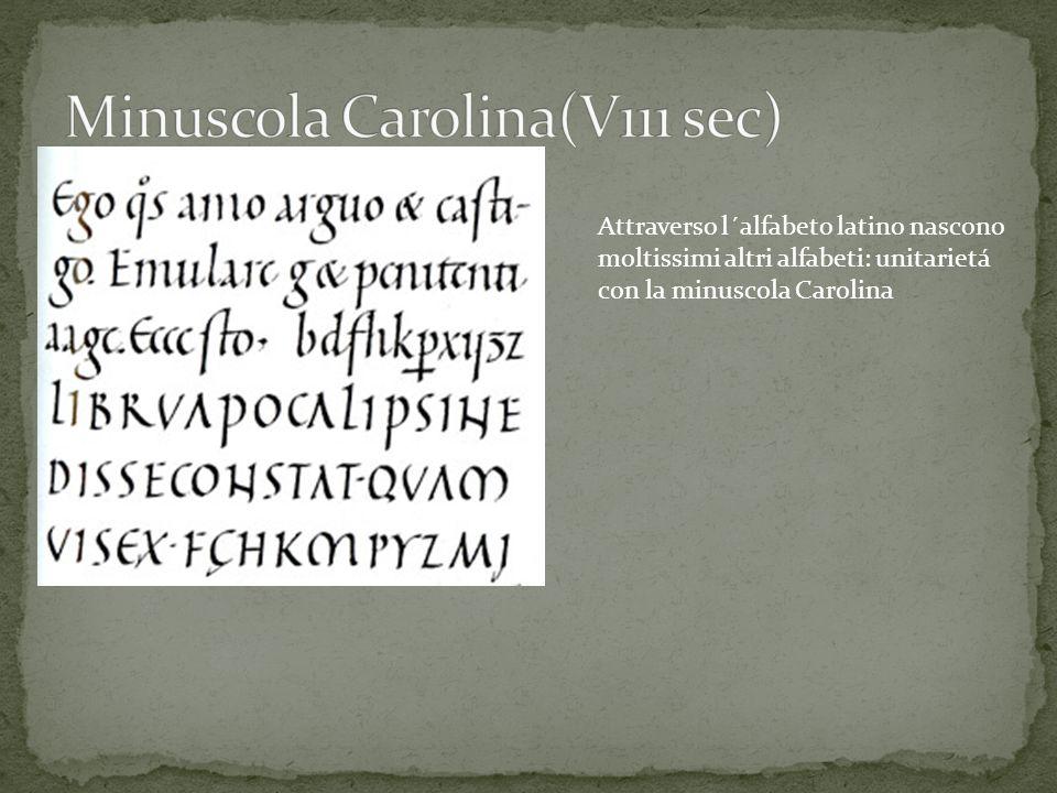 Minuscola Carolina(V111 sec)