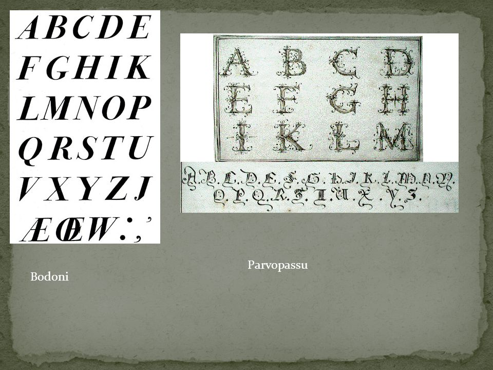 Parvopassu Bodoni