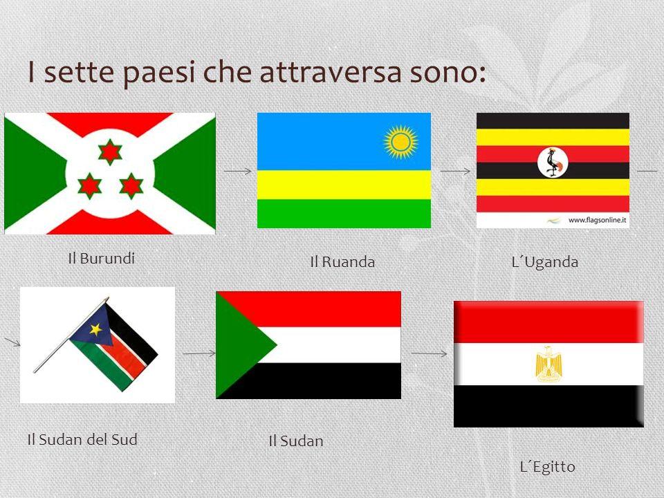 I sette paesi che attraversa sono:
