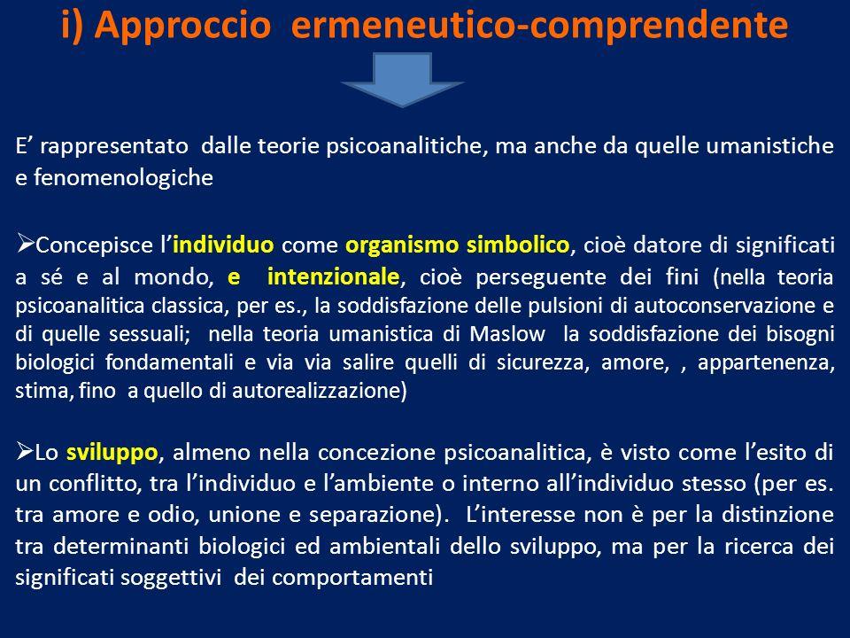i) Approccio ermeneutico-comprendente