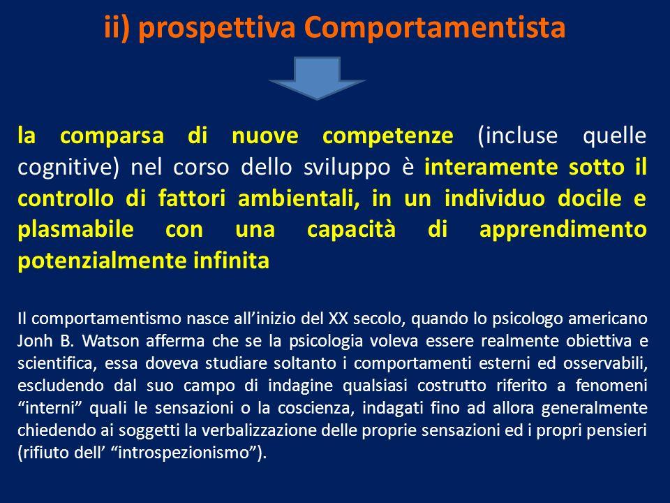 ii) prospettiva Comportamentista