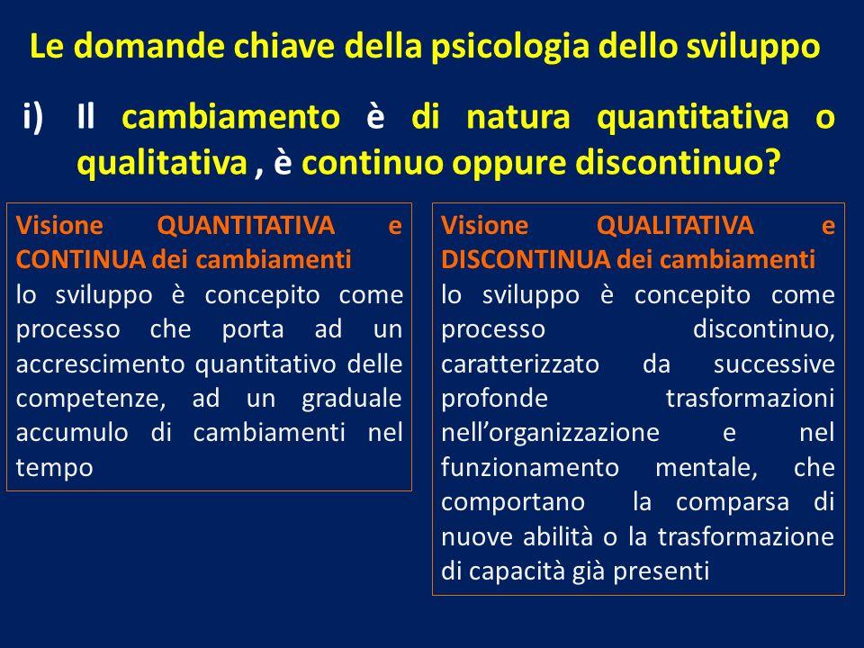 Le domande chiave della psicologia dello sviluppo