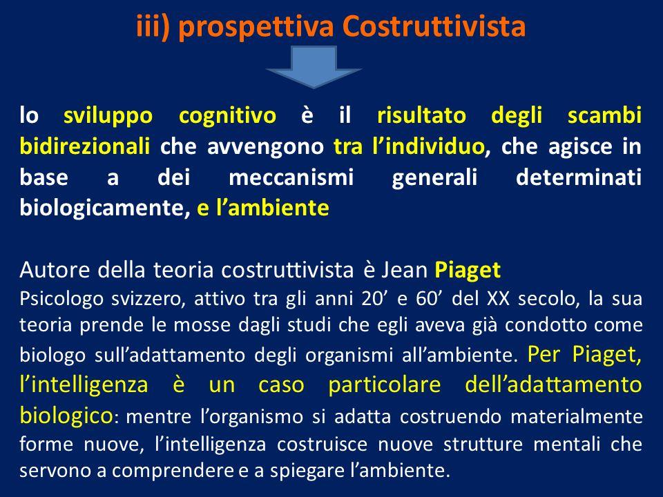 iii) prospettiva Costruttivista