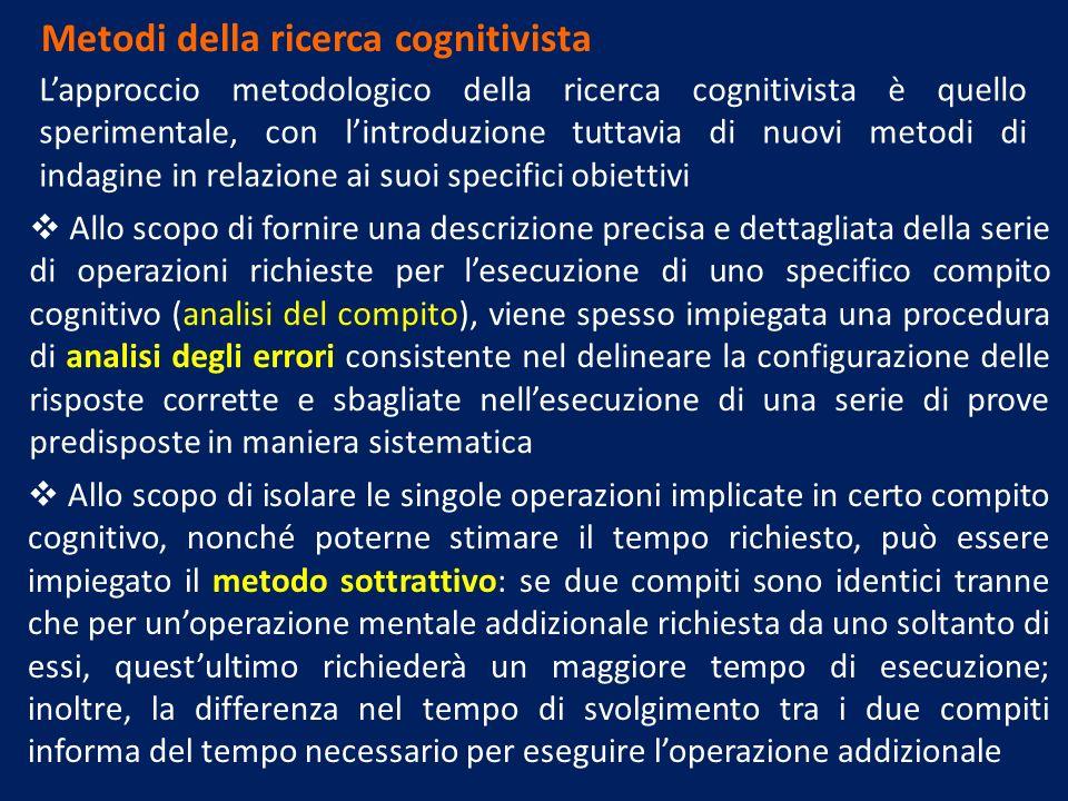 Metodi della ricerca cognitivista