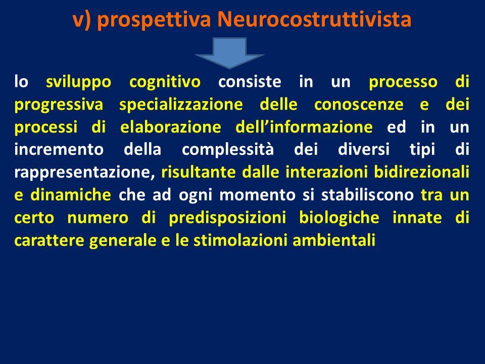 v) prospettiva Neurocostruttivista