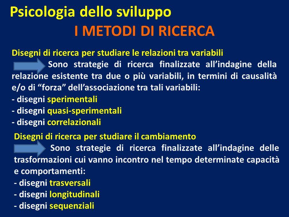 Psicologia dello sviluppo I METODI DI RICERCA