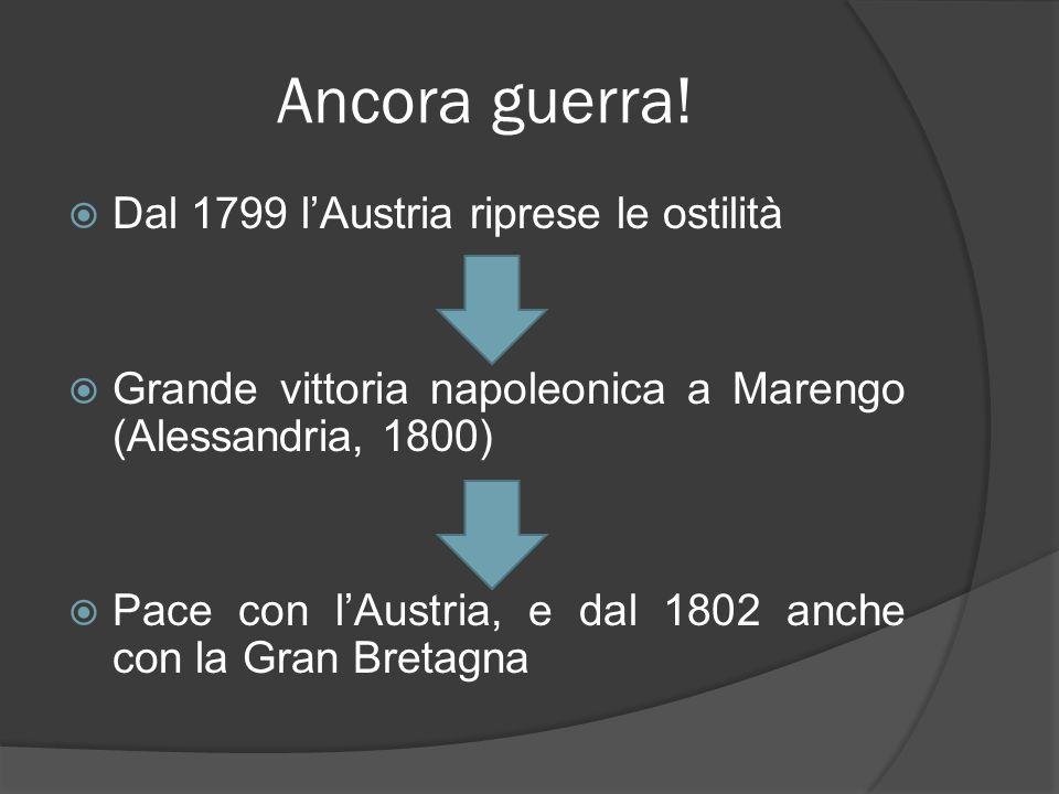 Ancora guerra! Dal 1799 l'Austria riprese le ostilità