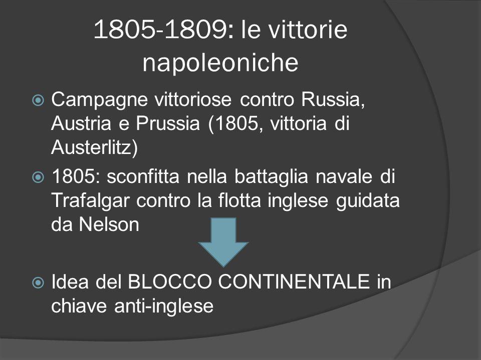1805-1809: le vittorie napoleoniche
