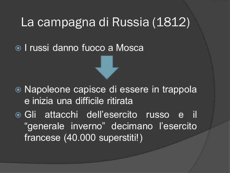 La campagna di Russia (1812)