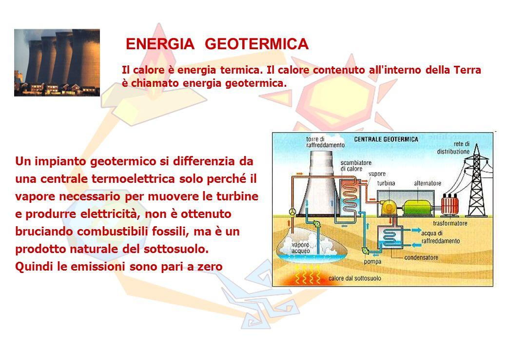 ENERGIA GEOTERMICA Il calore è energia termica. Il calore contenuto all interno della Terra è chiamato energia geotermica.