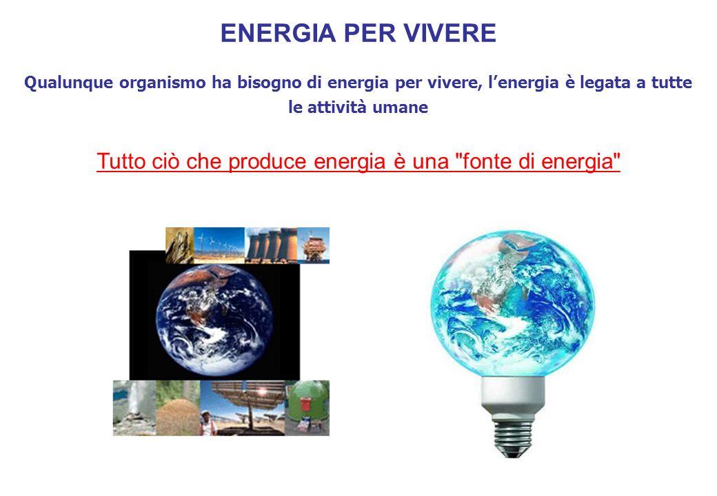 Tutto ciò che produce energia è una fonte di energia