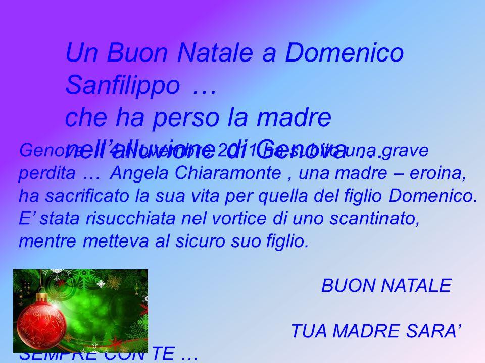 Un Buon Natale a Domenico Sanfilippo …