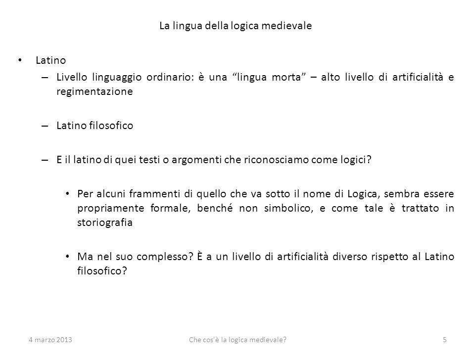 La lingua della logica medievale Latino