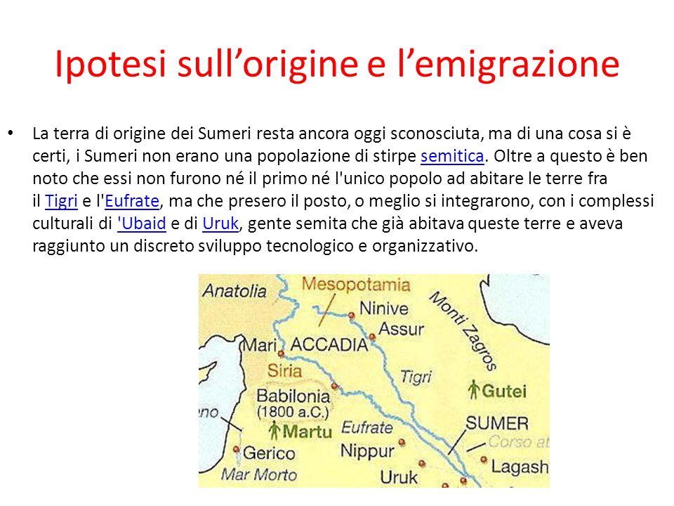 Ipotesi sull'origine e l'emigrazione