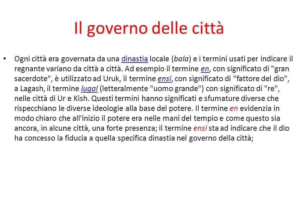 Il governo delle città