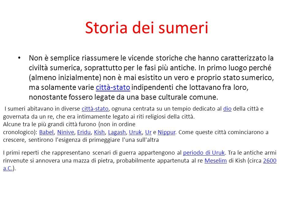 Storia dei sumeri