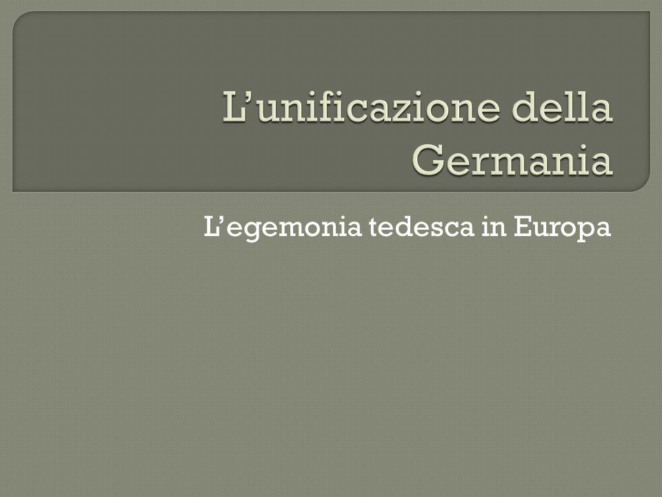 L'unificazione della Germania