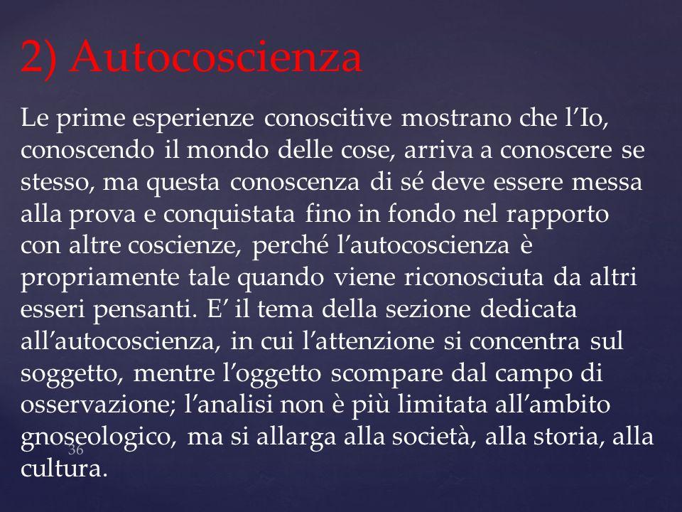 2) Autocoscienza