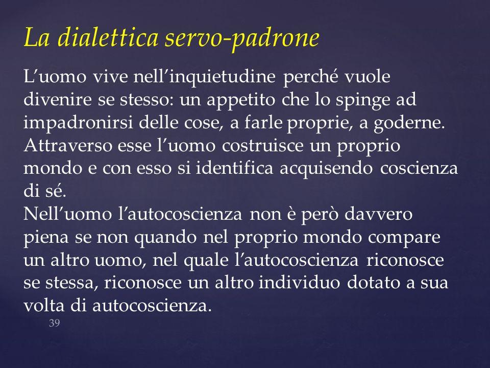 La dialettica servo-padrone