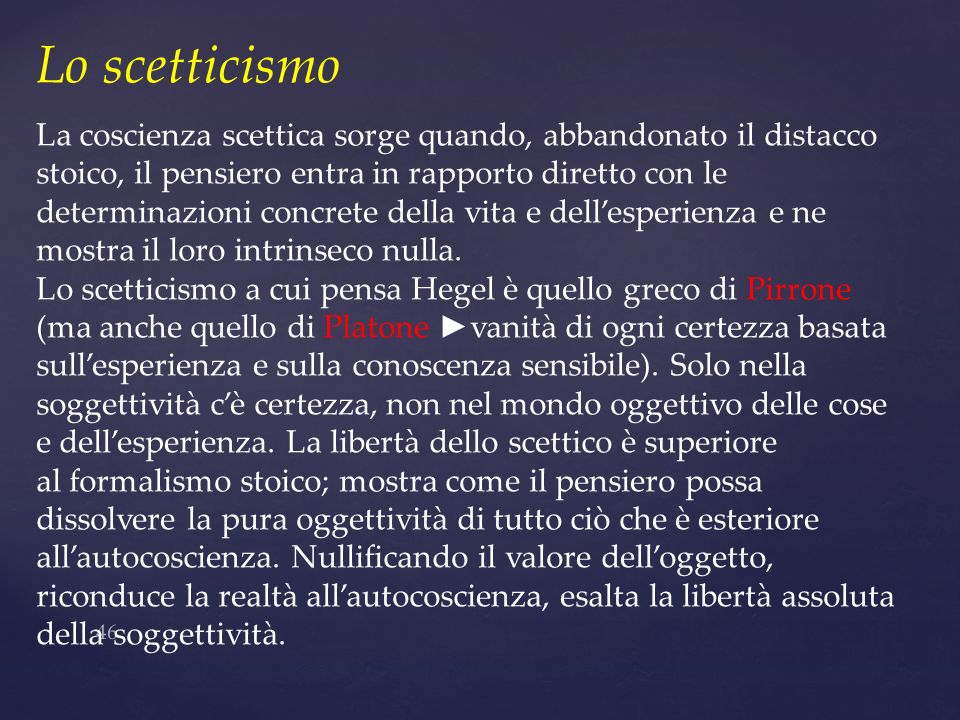 Lo scetticismo